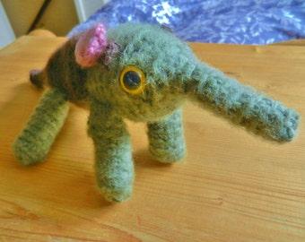 Amigurumi, crocheted, wool animals, ant eater, soft toy, plush