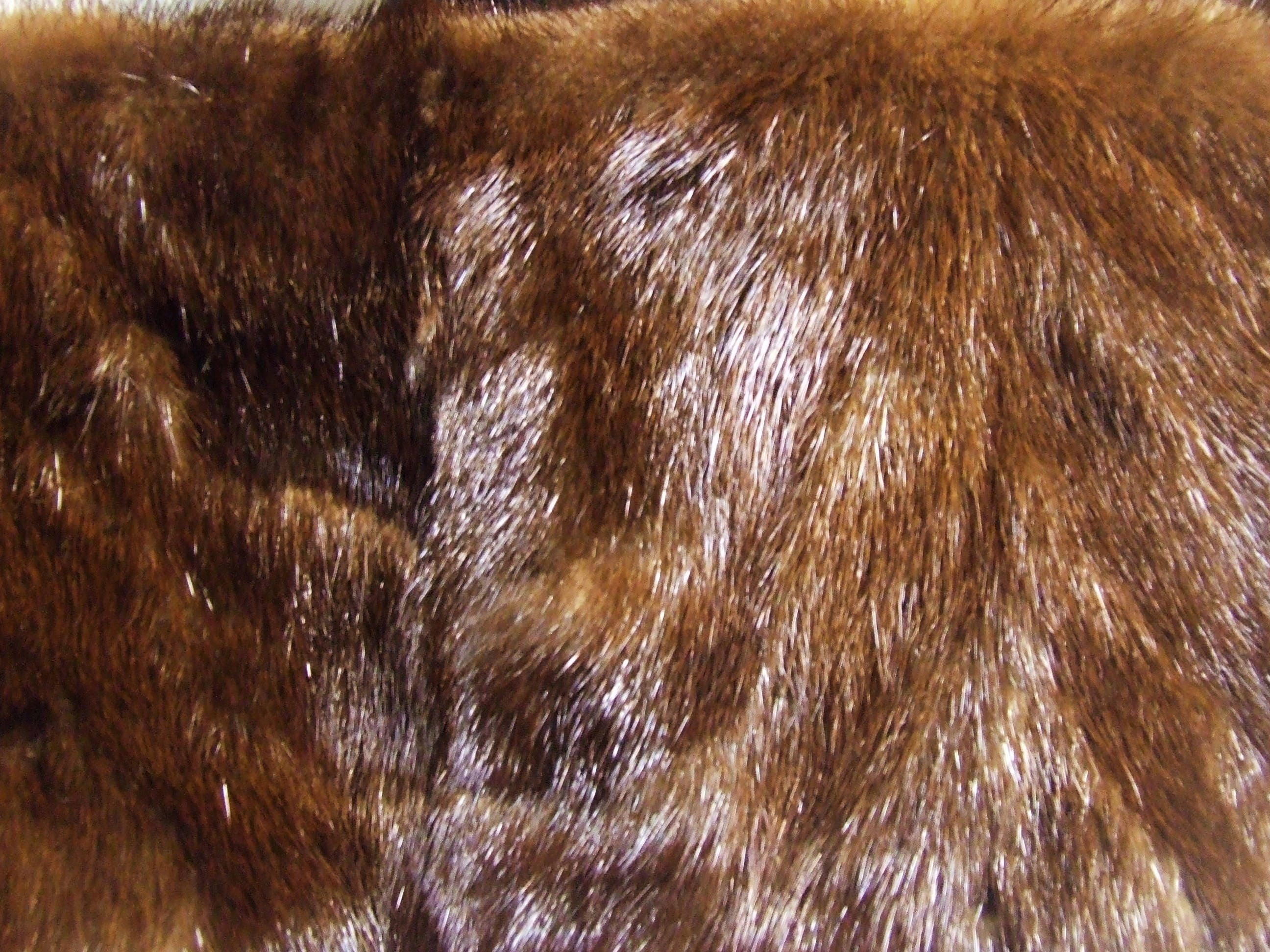 Luxurious Sable Mink Fur with Embroide rojo rojo rojo  Marrón Silk Lining and Marrón Bow 5