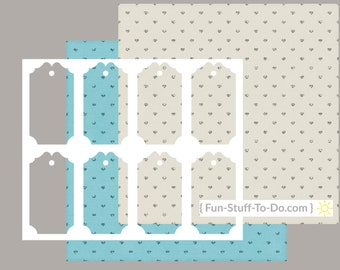 Tag Two - Digital Transparent Overlay Template - Patterns & How To