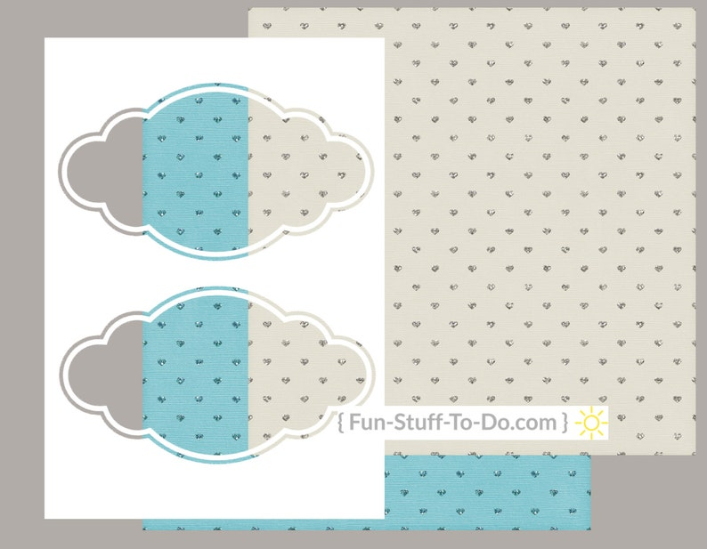 Label Two  Large  Digital Transparent Overlay Template image 0