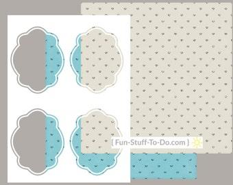 Label Four - Medium - Digital Transparent Overlay Template
