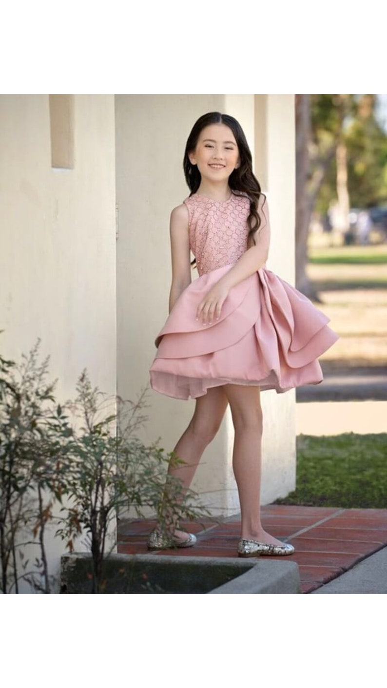 67cad7fdd4b The Open Rose dress dusty rose color remarks beautiful shiny