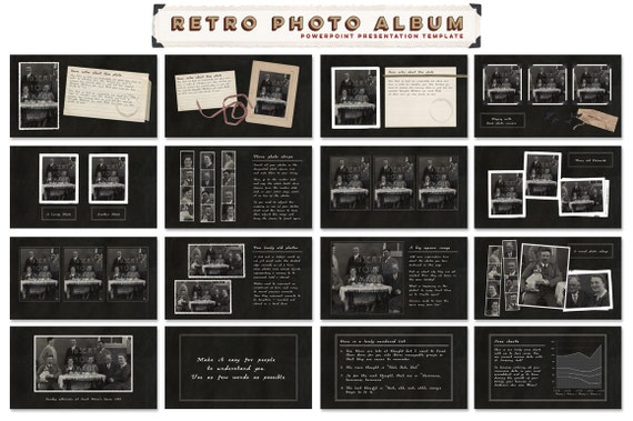 Scrapbook Memories Powerpoint Template Collection Including
