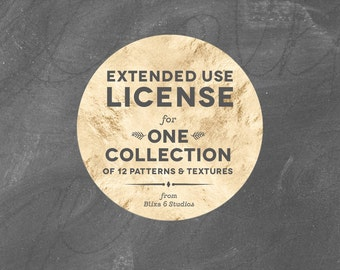 Extended Commercial License for Small Runs Using Digital Papers and Clip Art Graphic Collections by Blixa 6 Studios