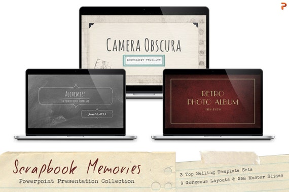 Scrapbook memories powerpoint template collection including etsy toneelgroepblik Gallery