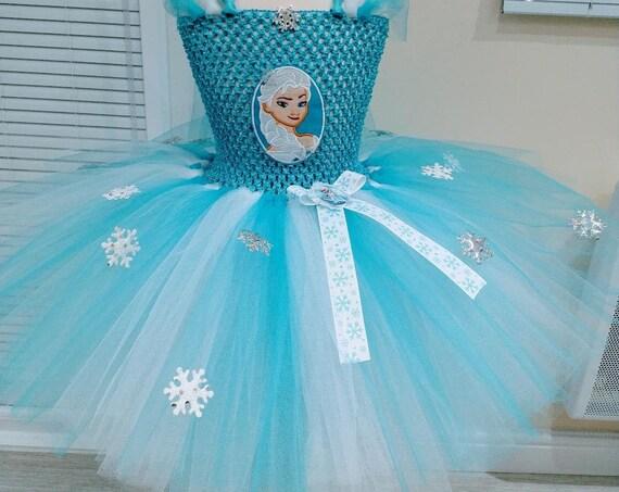 Elsa frozen short tutu dress