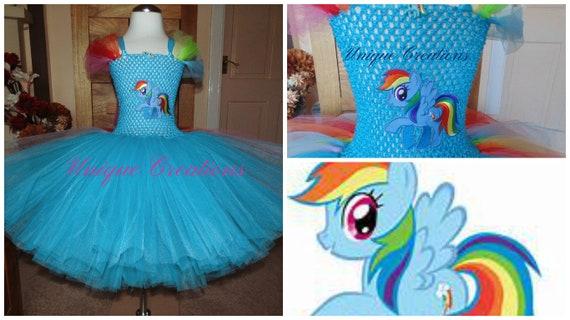 Rainbow Dash My little Pony inspired tutu dress
