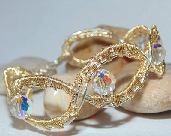 Beautiful Swarovski crystal sunburst bangle