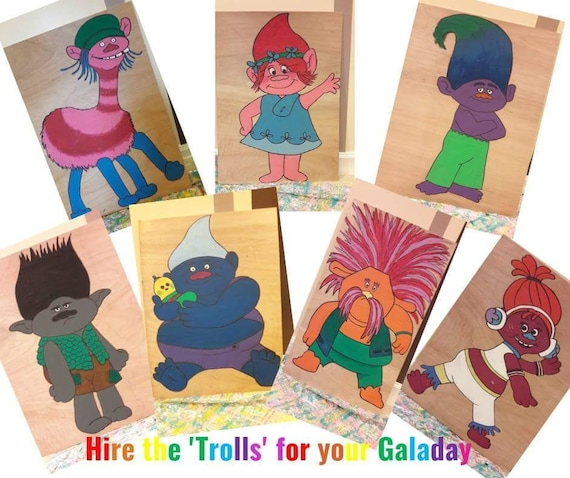 Hire The Trolls for yout themed party/ gala day decorations