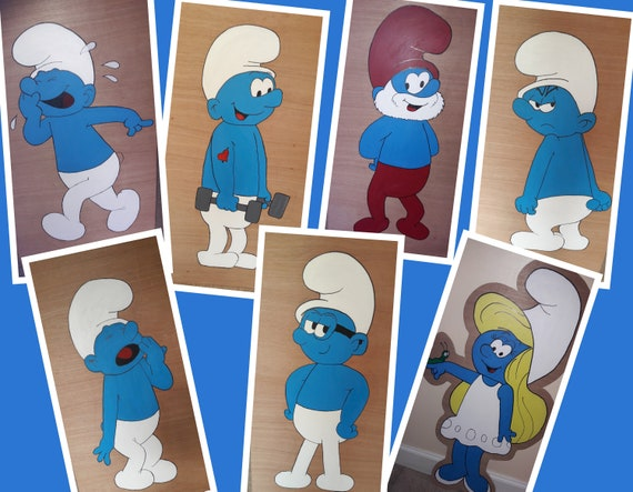 Hire the Smurfs for your party theme/ gala day decorations