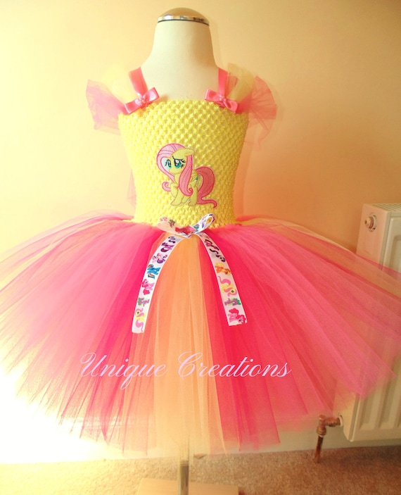 Fluttershy inspired tutu dress from age 0,1,2,3,4,5,6,7,8,9,10