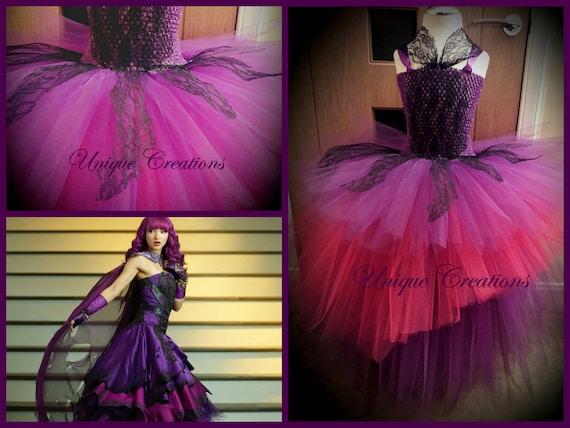Mal Descendants 2 inspired long ball gown tutu dress