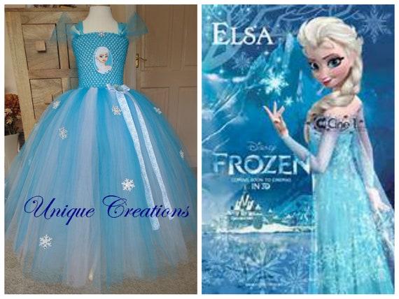 Stunning long Elsa tutu dress