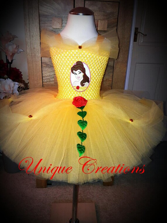 Belle inspired tutu dress