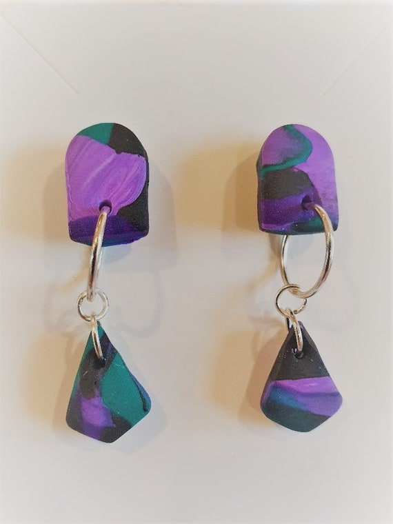 Lovely aztec contemporary design dangle earrings