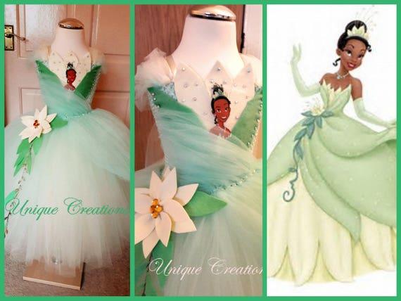 Princess Tiana 'The frog princess' inspired long tutu dress