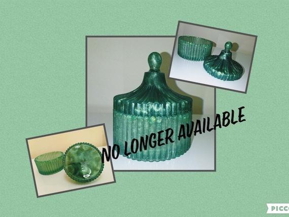 Beautiful emerald green trinket box