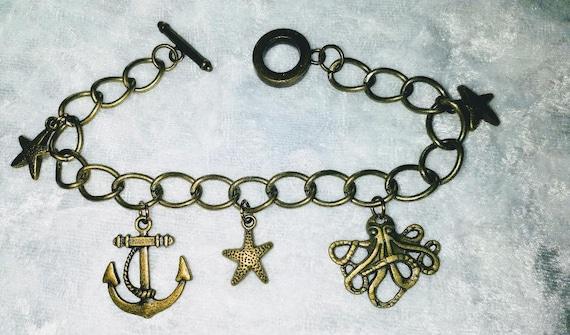 Uma Disney Descendants inspired charm bracelet
