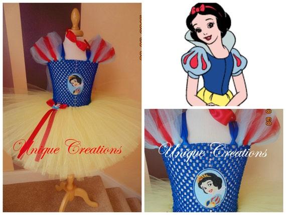 Snow White inspired tutu dress age  0,1,2,3,4,5,6,7,8,9,10