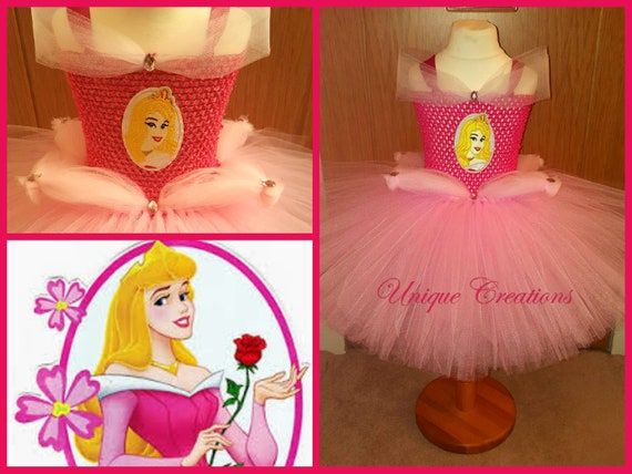 Aurora/Sleeping Beauty inspired tutu dress
