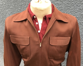 1940s 1950s Two tone Rayon Gabardine Ricky jacket Size 40