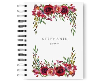 Undated Planner Weekly and Monthly, 2018 Planner Book, Custom Planner 2018, Personalized Planner Cover, SKU: PL004