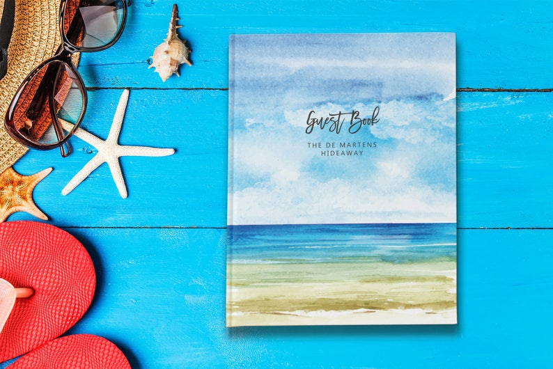 Vacation Home Guest Book Visitors Book New Home Gift Beach House Guest Book New Homeowner Gift