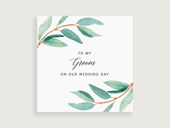 Gift For My Husband On Our Wedding Day: To My Husband On Our Wedding Day To My Groom Card Wedding