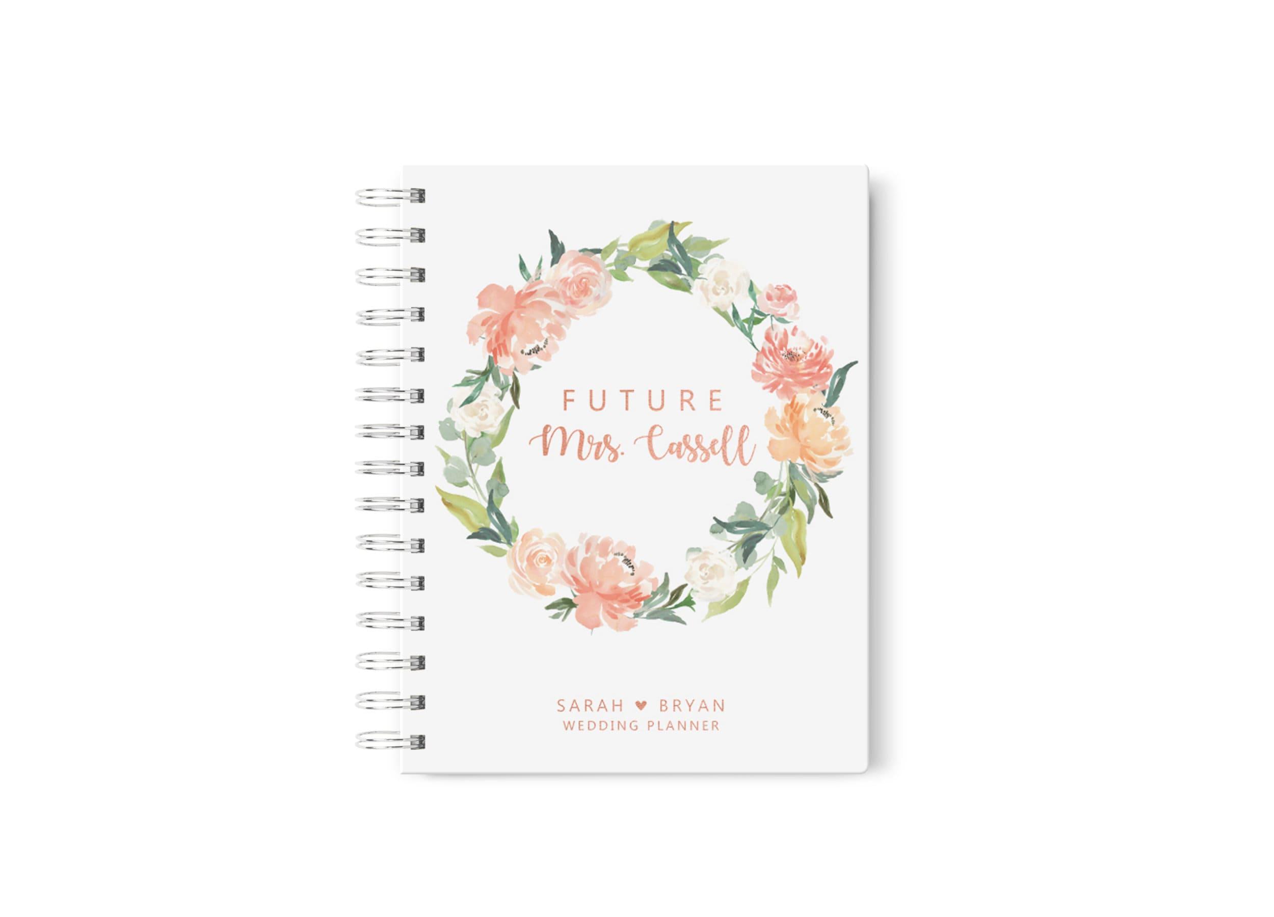 Peach Wedding Planner Personalized Wedding Planning Book Etsy