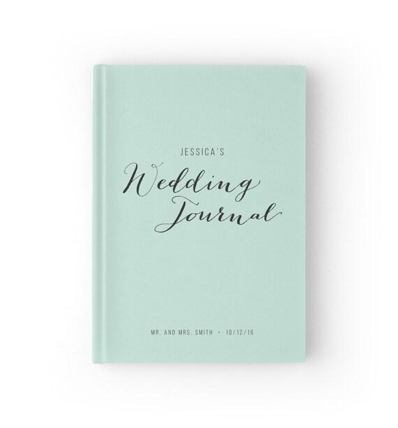 Hochzeits Planer Buch Mint Hochzeit Journal Braut Buch Etsy