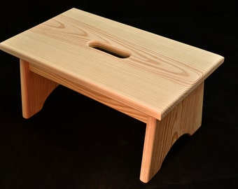 Astonishing Wood Step Stool Unfinished Pine 16L X 9W X Etsy Alphanode Cool Chair Designs And Ideas Alphanodeonline