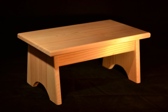 Swell Wood Step Stool Unfinished Pine 16L X 9W X 7 5H Alphanode Cool Chair Designs And Ideas Alphanodeonline
