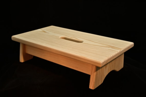Wondrous Small Wood Step Stool With Handle Hole Unfinished Pine 16L X 9W X 4H Dailytribune Chair Design For Home Dailytribuneorg