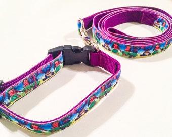 Lilo & stitch inspired dog leash, collar or matching set