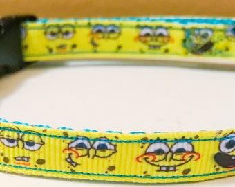Sponge bob square pants inspired collar