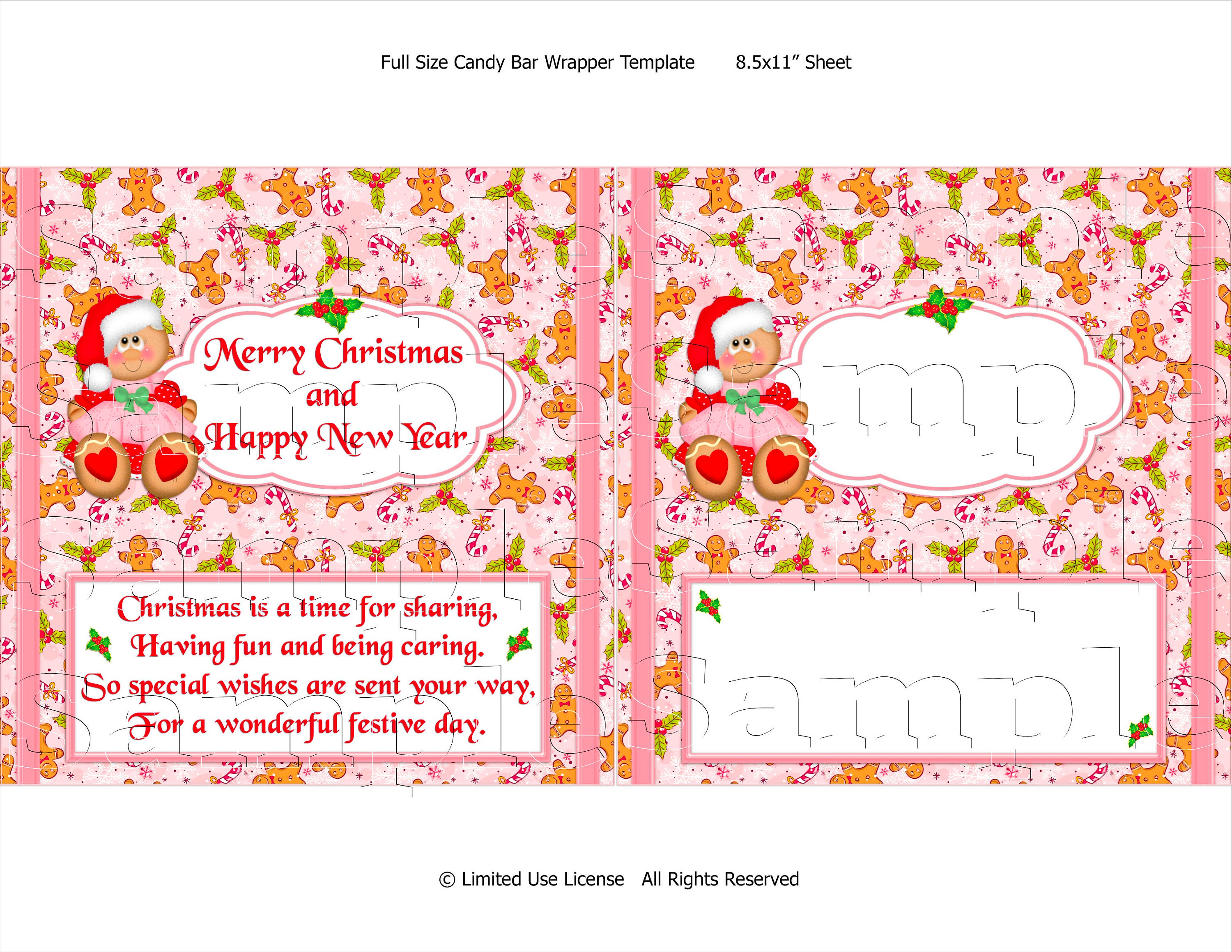 Gingerbread Girl Wrapper Candy Wrappers Diy Printable Etsy