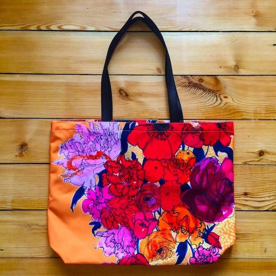 R is for Roses  Canvas Tote  Bag  Shopper  Beach Bag
