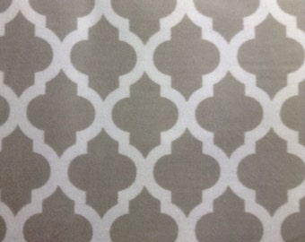 SALE - One Yard Piece of  Fabric Material - Grey Moroccan - FLANNEL