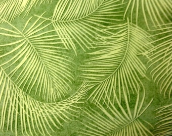 One Half Yard of Fabric Material -  Palm Fronds