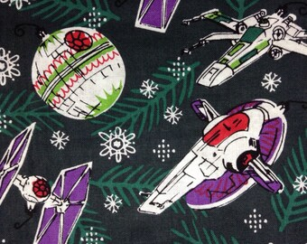one half yard of fabric material star wars christmas ornaments star wars space - Nerdy Christmas Ornaments