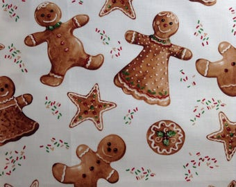 One 35 Inch Piece of Fabric - Gingerbread Cookies