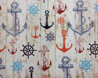 One Half Yard of Fabric - Anchors