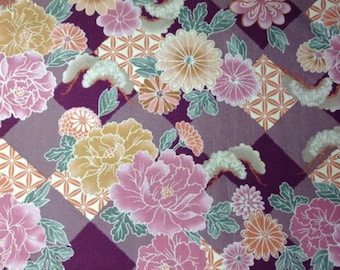 SALE - One Half Yard of Fabric Material - Oriental Floral