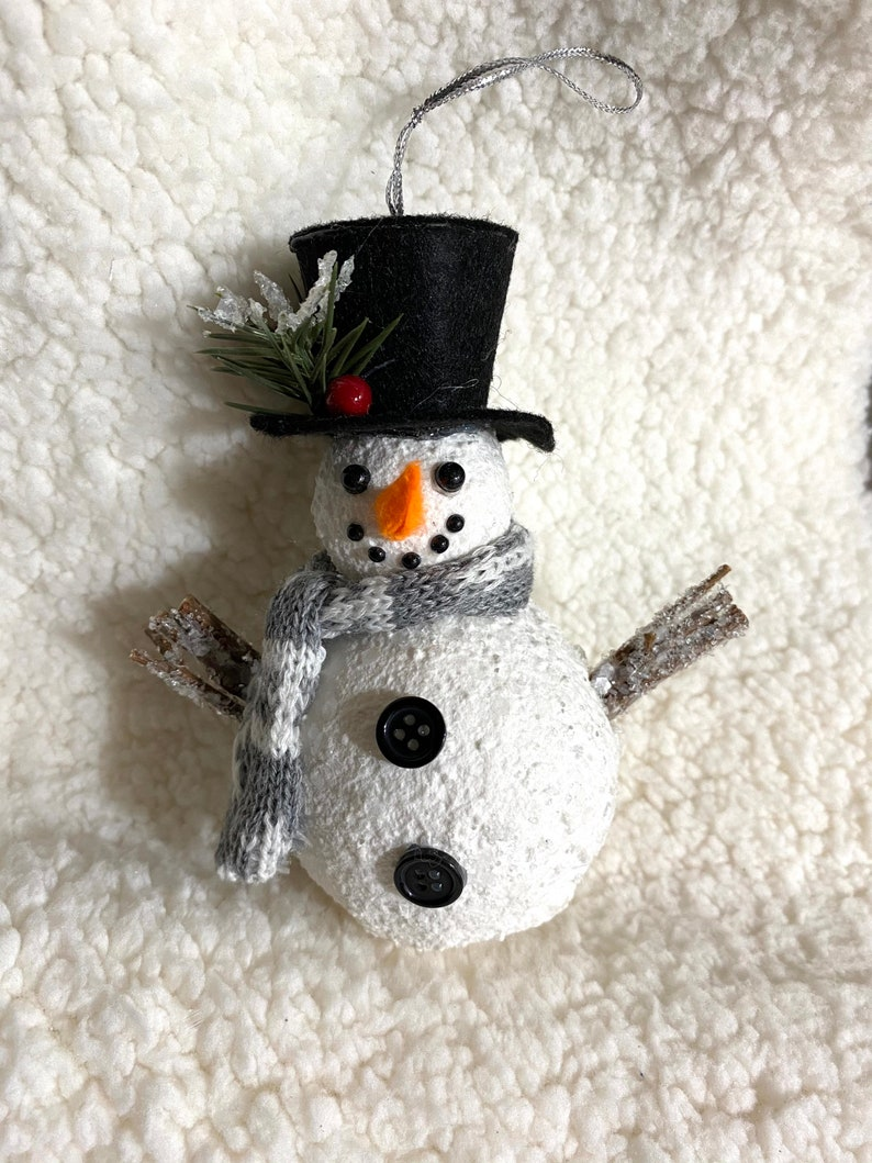 One Snowman Ornament for Decoration Crafting or for a Gift