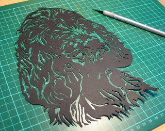 Springer Spaniel Papercut Template, SVG, Dog, Pattern, DIY, Template, Paper Cutting, Commercial, Digital Art, Papercut Template, Paper Cut