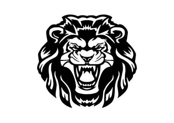 lion template papercut svg silhouette digital graphics etsy
