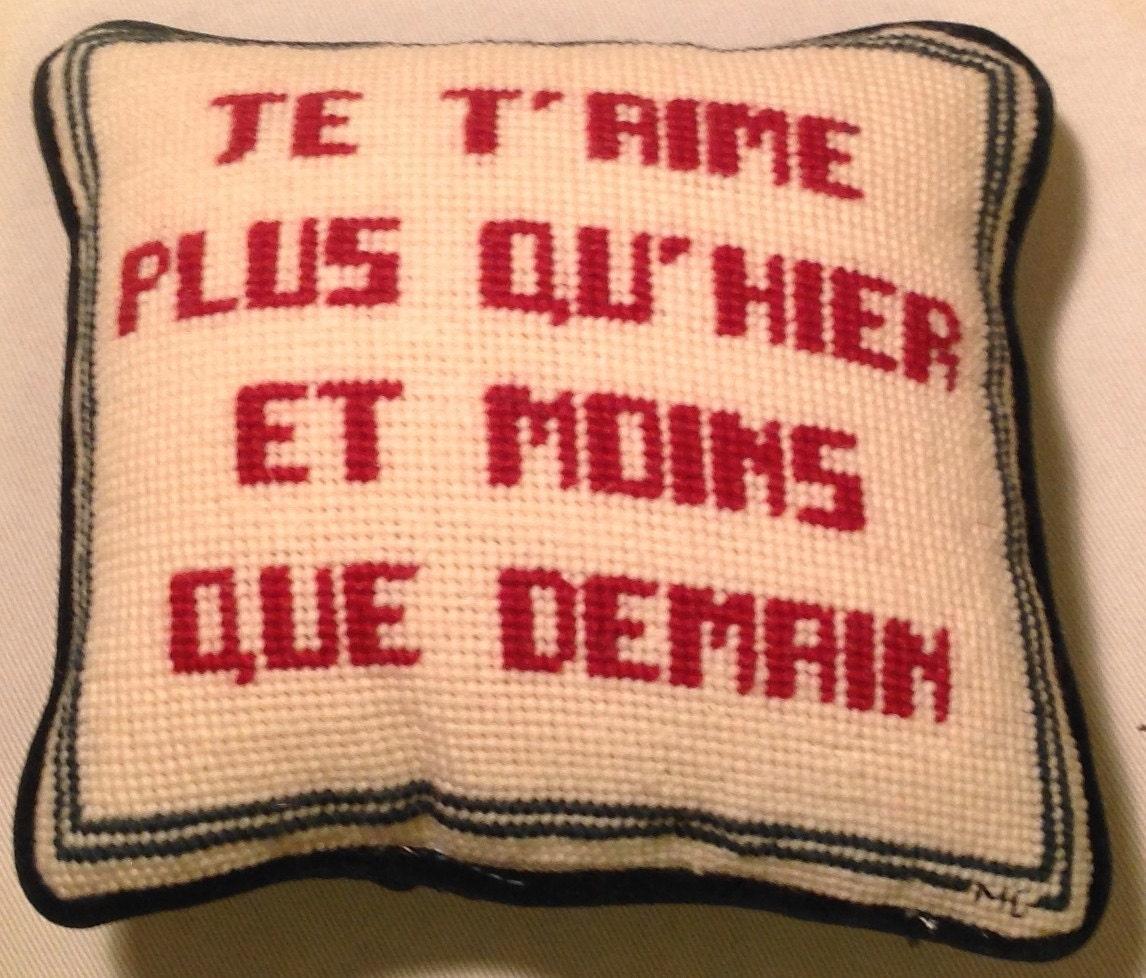Handmade Embroidered Pillow as Door Hanger