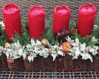 Christmas Advent Basket (4 candles)