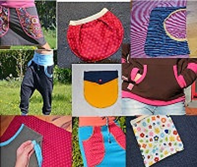 ebook Patterns Sewing Instructions Pocket variants package clothing bags pants Pockets