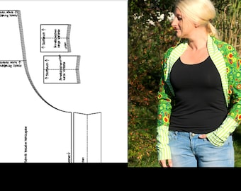 ebook Bolero Jäckchen Shoulder Warmer Sewing Pattern Sewing Instructions